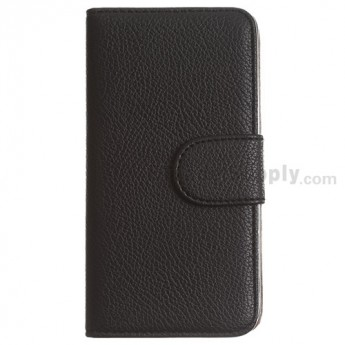 For LG G2 D800 Leather Case - Black - Grade R