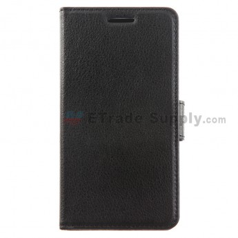 For LG G3 D850/D855/LS990/VS985 Lichee Pattern Leather Case - Black - Grade R