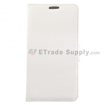 For LG G3 D850/D855/LS990/VS985 Lichee Pattern Leather Case - White - Grade R