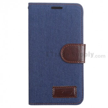 For LG G3 D850/D855/VS985/LS990 Fabric Protective Case - Dark Blue - Grade R