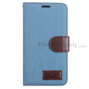 For LG G3 D850/D855/VS985/LS990 Fabric Protective Case - Light Blue - Grade R