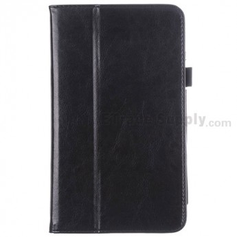 For LG G Pad 8.3 V500 Leather Case - Black - Grade R
