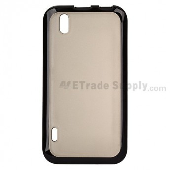 For LG Marquee LG855/AS855 Soft Crystal Case - Black - Grade R