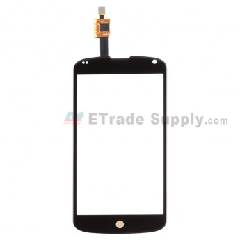 For LG Nexus 4 E960 Digitizer Touch Screen Replacement - Black - Grade R
