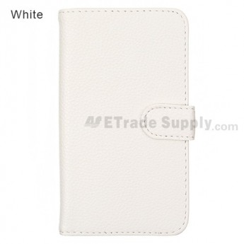 For LG Nexus 4 E960 Leather Case - White - Grade R
