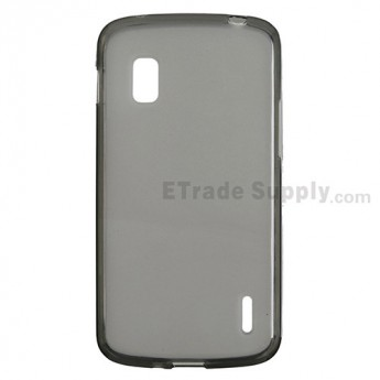 For LG Nexus 4 E960 Soft Crystal Case - Black - Grade R