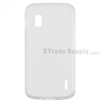 For LG Nexus 4 E960 Soft Crystal Case - White - Grade R