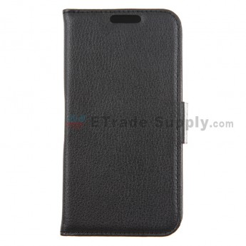 For LG Nexus 5 D820 Leather Case - Black - Grade R