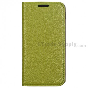 For LG Nexus 5 D820 Lichee Pattern Leather Case - Green - Grade R