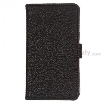 For LG Optimus G Series Leather Case - Black - Grade R