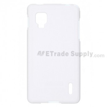 For LG Optimus G E975/E971 Soft Crystal Case - White - Grade R