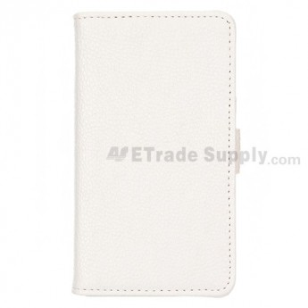 For LG Optimus G Series Leather Case - White - Grade R