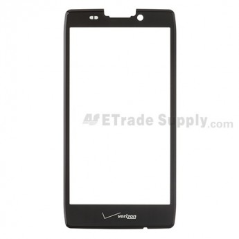 For Motorola Droid Razr MAXX HD, XT926 Glass Lens Replacement - Black - With Logo - Grade R