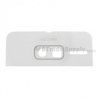 For Motorola Droid Razr M 4G LTE XT907 Battery Door Camera Glass Lens(Acrylic Material) Replacement - White-Grade R