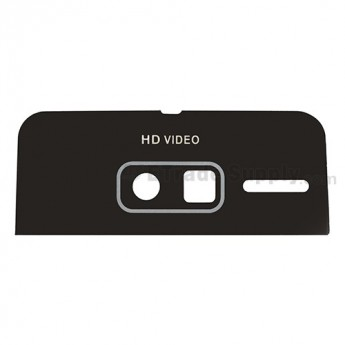 For Motorola Droid Razr M 4G LTE XT907 Battery Door Camera Glass Lens Replacement (Acrylic Material) - Black - Grade R