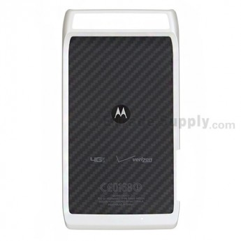 For Motorola Droid Razr XT912, XT910 Battery Door Replacement - White - With Logo - Grade R