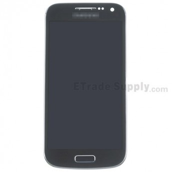 For Samsung Galaxy S4 Mini GT-I9190/GT-I9195 LCD Screen and Digitizer Assembly with Front Housing Replacement - Black Mist - Grade S+