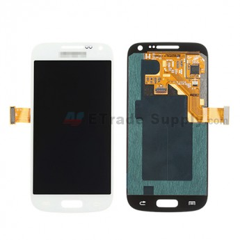 For Samsung Galaxy S4 Mini GT-I9190/GT-I9195 LCD Screen and Digitizer Assembly Replacement - White - With Logo - Grade S