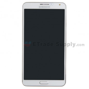For Samsung Galaxy Note 3 N900 LCD Screen and Digitizer Assembly with Front Housing Replacement - White - Grade S+