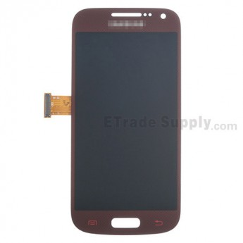 For Samsung Galaxy S4 Mini GT-I9190/GT-I9195 LCD Screen and Digitizer Assembly Replacement - Red - With Logo - Grade S+