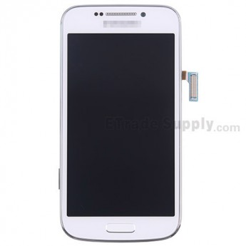 For Samsung Galaxy S4 ZOOM SM-C101 LCD Screen and Digitizer Assembly with Front Housing Replacement - White - With Logo - Grade S+