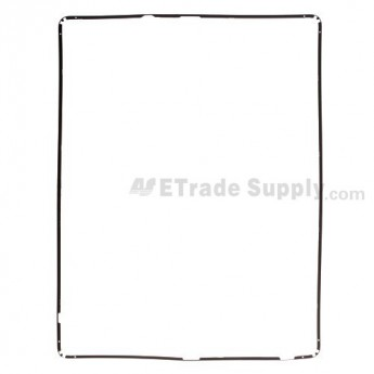 For Apple iPad 2 Digitizer Touch Screen Frame Replacement - Black - Grade S+