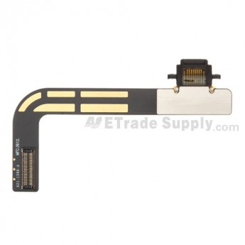 For Apple iPad 4 Charging Port Flex Cable Ribbon  Replacement - Black - Grade S+