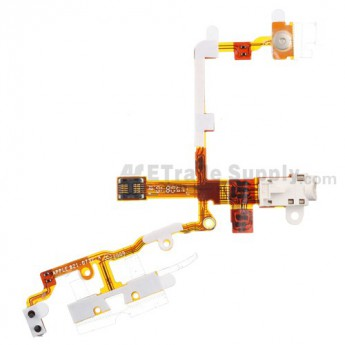For Apple iPhone 3GS Audio Flex Cable Ribbon Replacement - White - Grade S+