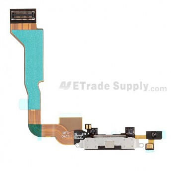 For Apple iPhone 4 Charging Port Flex Cable Ribbon Replacement (Verizon Wireless) - Black - Grade S+