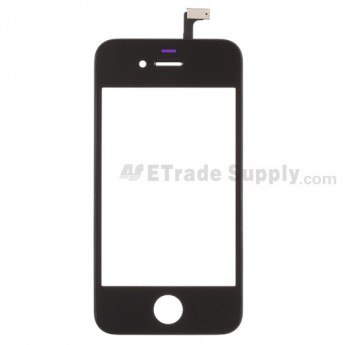 For Apple iPhone 4 Digitizer Touch Screen & Glass Lens with Frame Replacement (AT&T) - Black - Grade S+