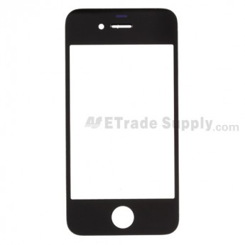 For Apple iPhone 4 Glass Lens Replacement (AT&T) - Black - Grade S+