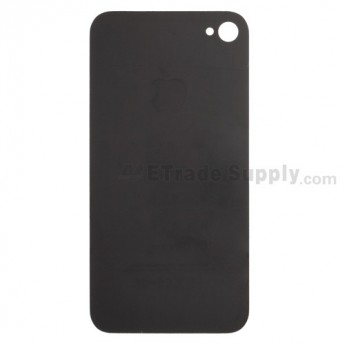 For Apple iPhone 4S Back Glass Replacement - Black - Grade S+