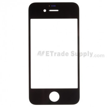 For Apple iPhone 4S Glass Lens Replacement - Black - Grade S+