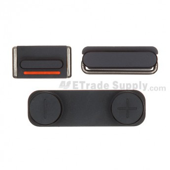 For Apple iPhone 5 Side Key Set Replacement - Black - Grade S+