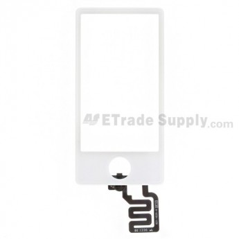 For Apple iPod Nano Gen 7 Digitizer Touch Screen Replacement - White - Grade S+