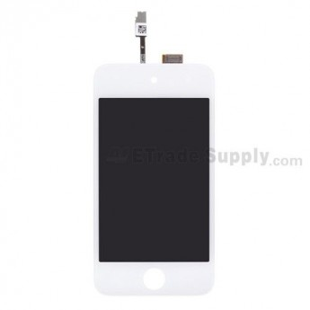 For Apple iPod Touch 4th Generation LCD Screen and Digitizer Assembly Replacement - White - Grade S+