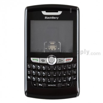 For BlackBerry 8820 Complete Housing Replacement - Black - Grade A