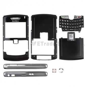 For BlackBerry 8820 Complete Housing Replacement ,Black - Grade S+