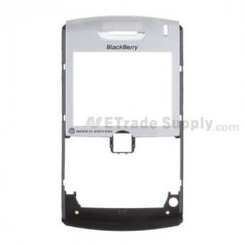 For BlackBerry 8830 Front Housing with Lens Replacement ,Black - Grade S+