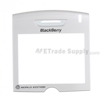 For BlackBerry 8830 Glass Lens with Adhesive Replacement ,Black - Grade S+