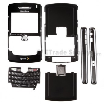 For BlackBerry 8830 Housing Replacement (Sprint) ,Black - Grade S+