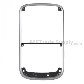 For BlackBerry Bold 9000 Chrome Bezel without Side Key Replacement ,Silver - Grade S+
