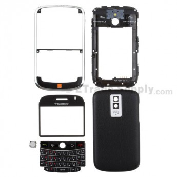 For BlackBerry Bold 9000 Complete Housing Replacement (Orange Wireless) ,Black - Grade S+