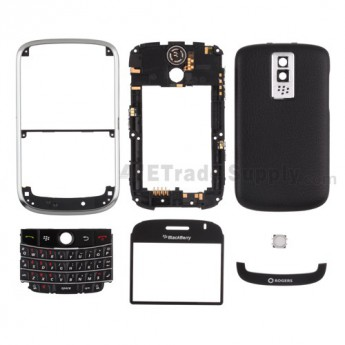 For BlackBerry Bold 9000 Complete Housing Replacement (Rogers Wireless) ,Black - Grade S+