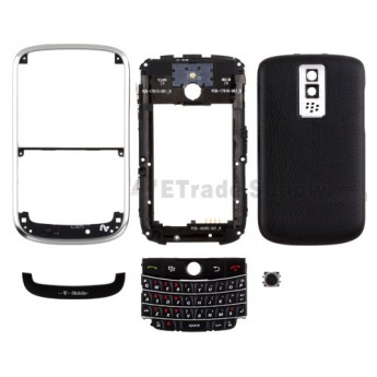 For BlackBerry Bold 9000 Complete Housing Replacement (T-Mobile) ,Black - Grade S+