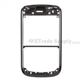For BlackBerry Bold 9650 Front Housing Replacement - Black - Grade A