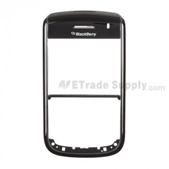 For BlackBerry Bold 9650 Front Housing with Top Cover Replacement ,Black - Grade S+