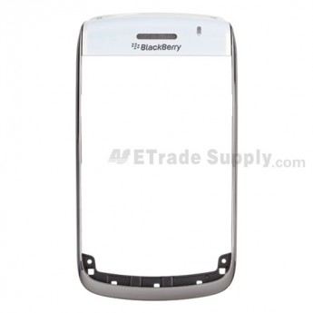 For BlackBerry Bold 9700 Chrome Ring with Top Cover Replacement ,White - Grade S+