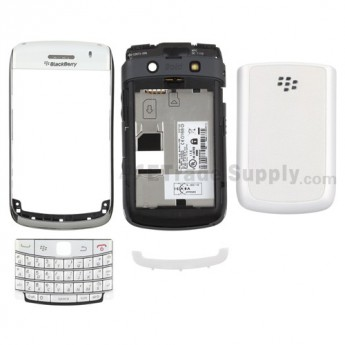 For BlackBerry Bold 9700 Complete Housing Including Some Aftermarket Parts Replacement ,Black - Grade S+