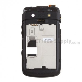 For BlackBerry Bold 9700 Middle Plate Replacement ,Black - Grade S+